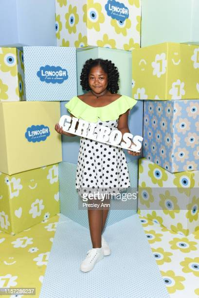Jessica Adams attends LANOOSH grand opening event hosted by Disney star Ava Kolker at LANOOSH on June 20 2019 in Glendale California
