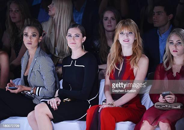 Jessica Alba Allison Williams Bella Thorne and AnnaSophia Robb attend the Diane Von Furstenberg fashion show during MercedesBenz Fashion Week Spring...