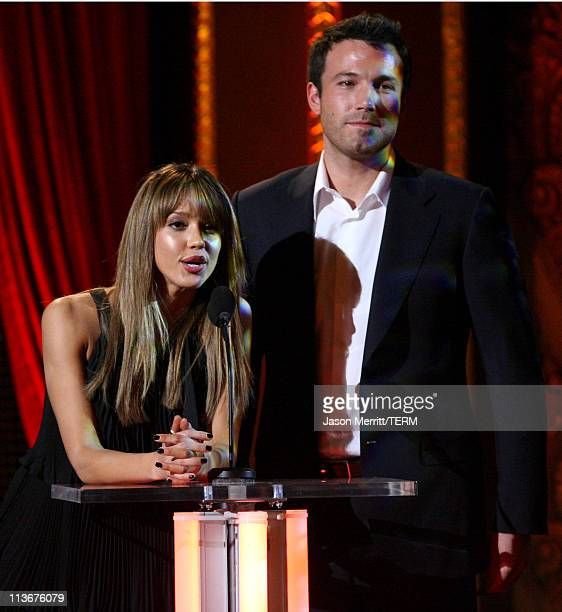 Jessica Alba and Ben Affleck during Spike TV's Scream Awards 2006 Show at Pantages Theater in Hollywood California United States