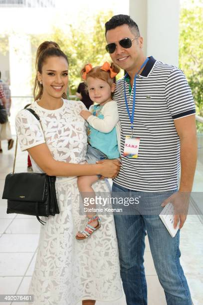 Jessica Alba and Cash Warren attend Hammer Museum KAMP 2014 on May 18 2014 in Los Angeles California
