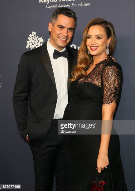 Jessica Alba and Cash Warren attend the 2017 Baby2Baby Gala on November 11 2017 in Los Angeles California