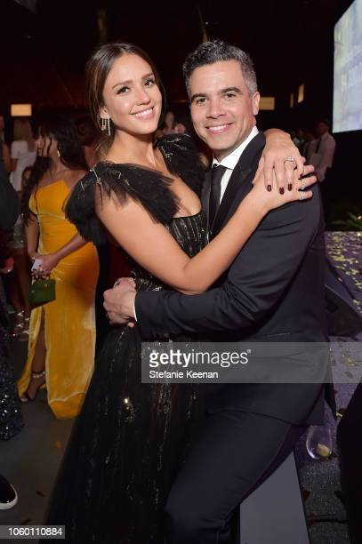 Jessica Alba and Cash Warren attend the 2018 Baby2Baby Gala Presented by Paul Mitchell at 3LABS on November 10 2018 in Culver City California