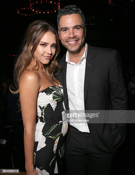 Jessica Alba and Cash Warren attend the party for the Premiere Of Lionsgate Summit Premiere's 'Mechanic Resurrection' at 1 Oak on August 22 2016 in...