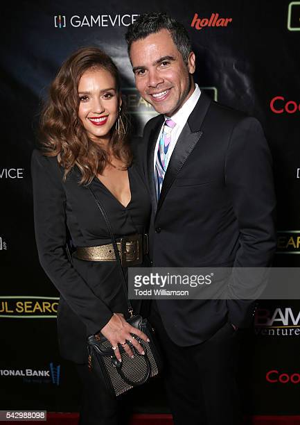 Jessica Alba and Cash Warren attend the premiere Of Wonder Vision's 'Seoul Searching' at The Majestic Downtown on June 24 2016 in Los Angeles...