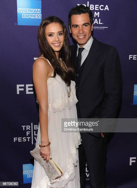 """Jessica Alba and Cash Warren attend the """"The Killer Inside Me"""" premiere during the 9th Annual Tribeca Film Festival at the SVA Theater on April 27,..."""