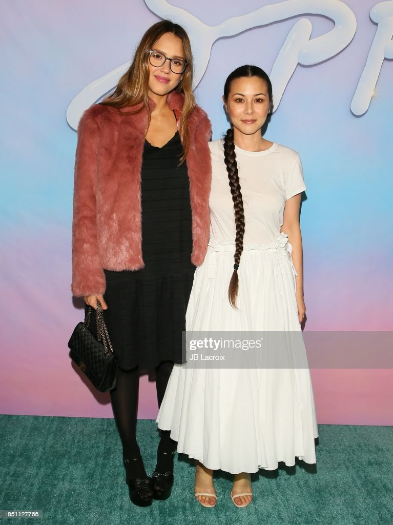 Jessica Alba and China Chow attend the premiere of Alex Israel's 'SPF-18' on September 21, 2017 in Los Angeles, California.