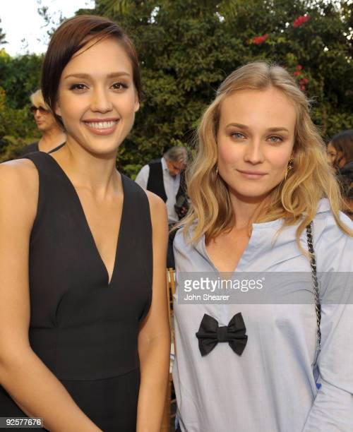 LOS ANGELES CA OCTOBER 30 Jessica Alba and Diane Kruger attend the CFDA/Vogue Fashion Fund Event at Chateau Marmont on October 30 2009 in West...