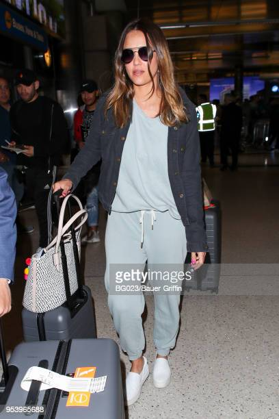 Jessica Alba and her husband Cash Warren are seen on May 02 2018 in Los Angeles California