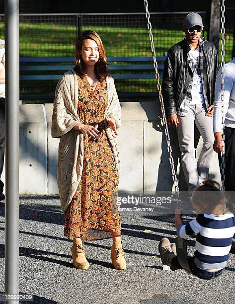 Jessica Alba and Honor Marie Warren visit Central Park on October 22 2011 in New York City