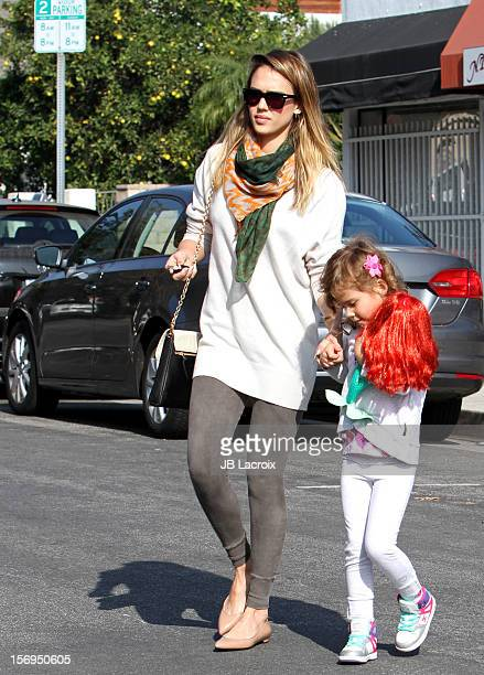 Jessica Alba and Honor Warren are seen on November 25 2012 in Los Angeles California