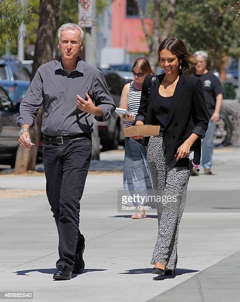 Jessica Alba and James Cameron are seen on April 16 2015 in Los Angeles California