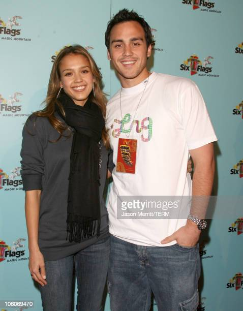 Jessica Alba and Joshua Alba during Six Flags Magic Mountain's Birthday Bash for Joe Francis Arrivals at Six Flags Magic Mountain in Valenica...