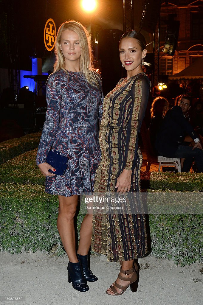 Jessica Alba and Kelly Swayer attends Tory Burch Paris Flagship Opening after party on July 7, 2015 in Paris, France.