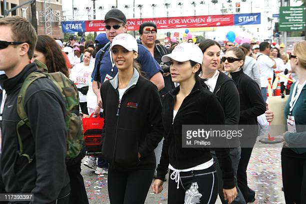 Jessica Alba and Lauren Sanchez Whitesell during The Entertainment Industry Foundation's 14th Annual Revlon Run/Walk for Women at Los Angeles...