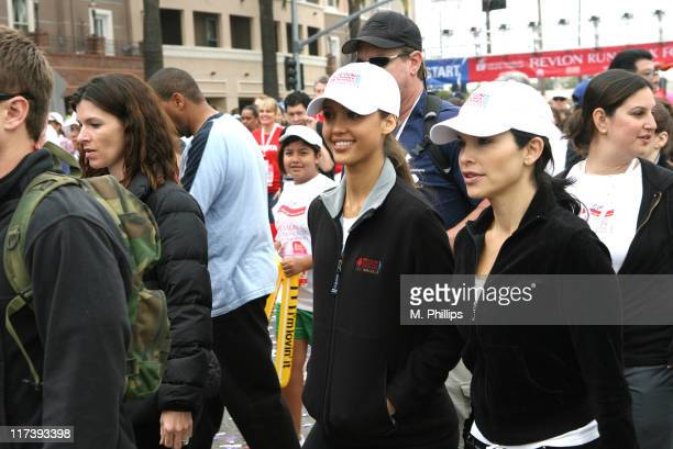 Jessica Alba and Lauren Sanchez Whitesell with participants