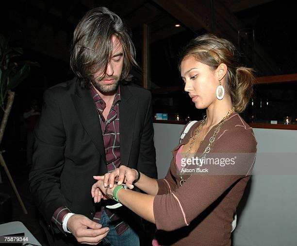 Jessica Alba and Laurent Planeix
