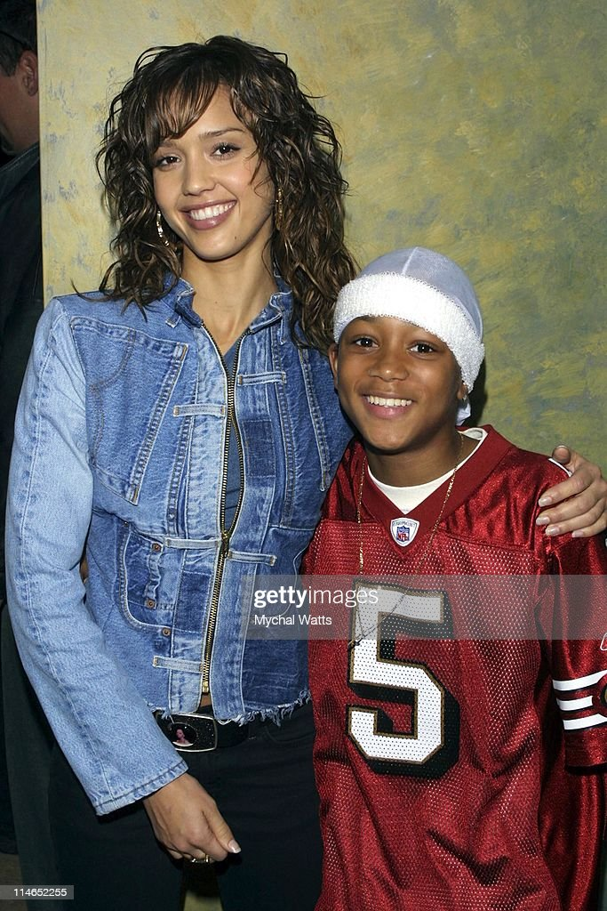 Jessica Alba and Lil' Romeo during Lil' Romeo and Jessica Alba On the Set Of Universal Film 'Honey' in Toronto, Ontario, Canada.
