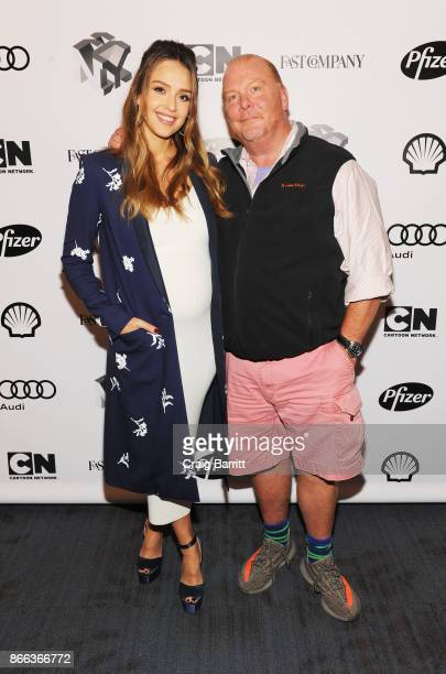 Jessica Alba and Mario Batali attend Passion Play How Jessica Alba and Mario Batali Created Multichannel Marvels during the Fast Company Innovation...