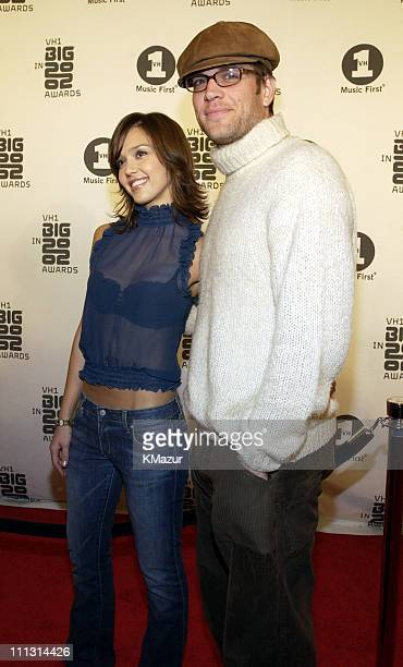 Jessica Alba and Michael Weatherly during VH1 Big in 2002 Awards Arrivals at The Grand Olympic Auditorium in Los Angeles California United States