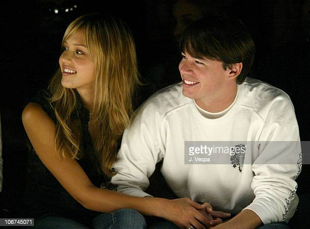 Jessica Alba and model JeanPaul during MercedesBenz Fall 2004 Fashion Week at Smashbox Studios Rami Kashou Front Row at Smashbox Studios in Culver...
