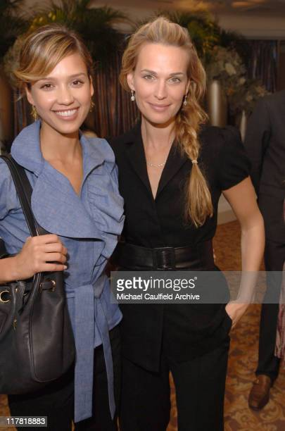 Jessica Alba and Molly Sims during Diamond Information Center and In Style Magazine Host The 5th Annual Awards Season Diamond Fashion Show Red Carpet...