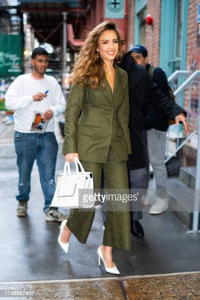 Jessica Alba arrives at a screening of 'L.A.'s Finest' at The Wing in SoHo on May 13, 2019 in New York City.