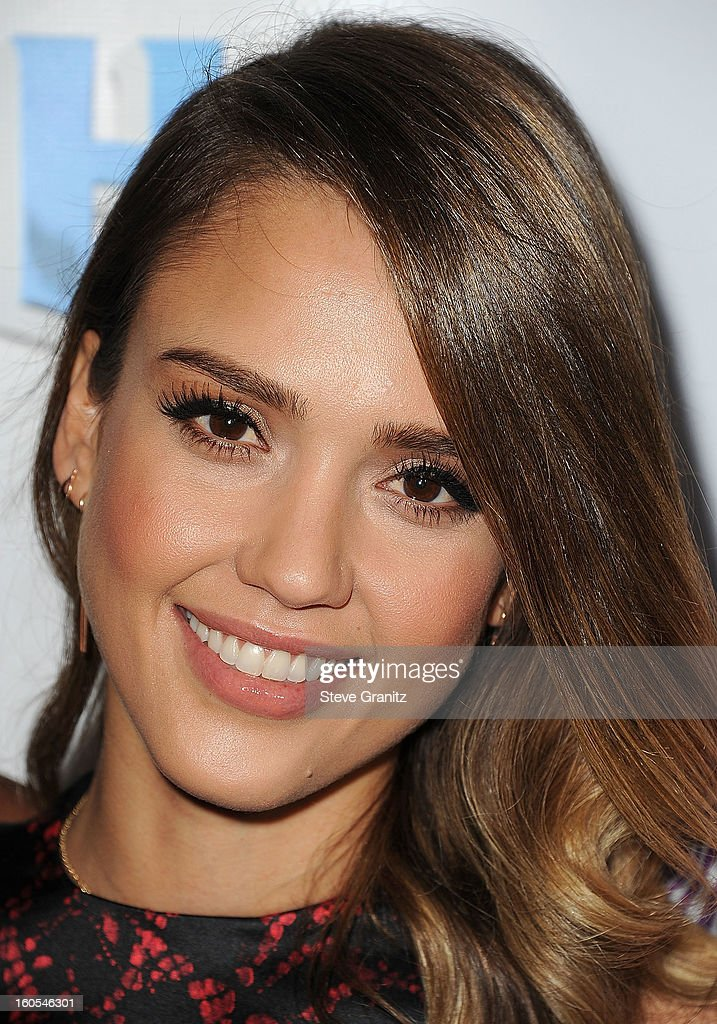 Jessica Alba arrives at 'Escape From Planet Earth' at Mann Chinese 6 on February 2, 2013 in Los Angeles, California.