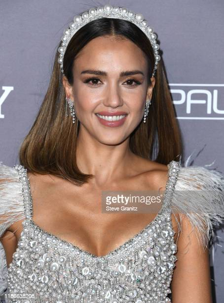 Jessica Alba arrives at the 2019 Baby2Baby Gala Presented By Paul Mitchell at 3LABS on November 09, 2019 in Culver City, California.