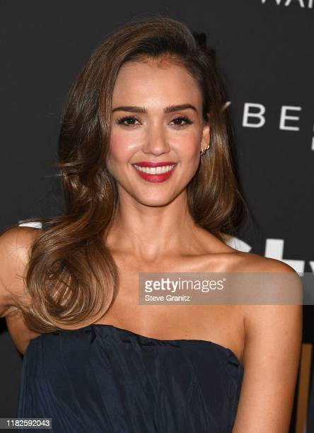 Jessica Alba arrives at the 2019 InStyle Awards at The Getty Center on October 21, 2019 in Los Angeles, California.