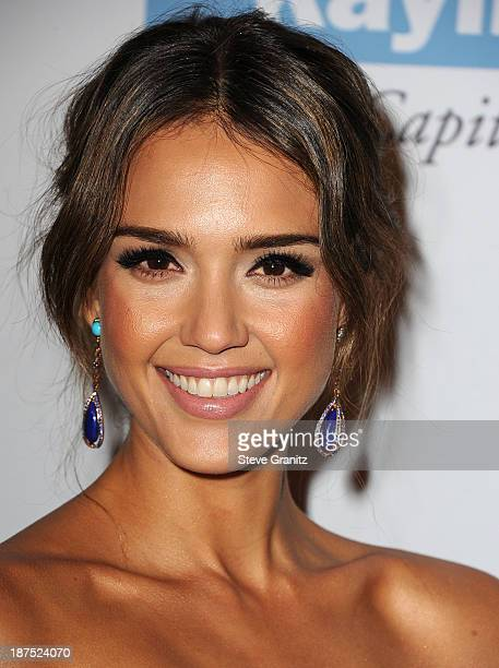 Jessica Alba arrives at the 2nd Annual Baby2Baby Gala at The Book Bindery on November 9 2013 in Culver City California