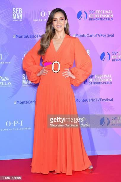 Jessica Alba arrives at the 59th Monte Carlo TV Festival TV Series Party on June 15 2019 in MonteCarlo Monaco