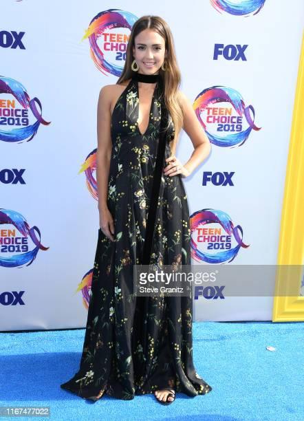 Jessica Alba arrives at the FOX's Teen Choice Awards 2019 on August 11, 2019 in Hermosa Beach, California.