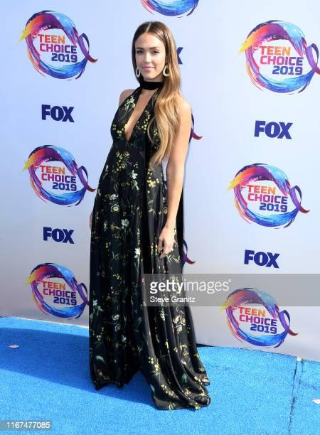 Jessica Alba arrives at the FOX's Teen Choice Awards 2019 on August 11 2019 in Hermosa Beach California