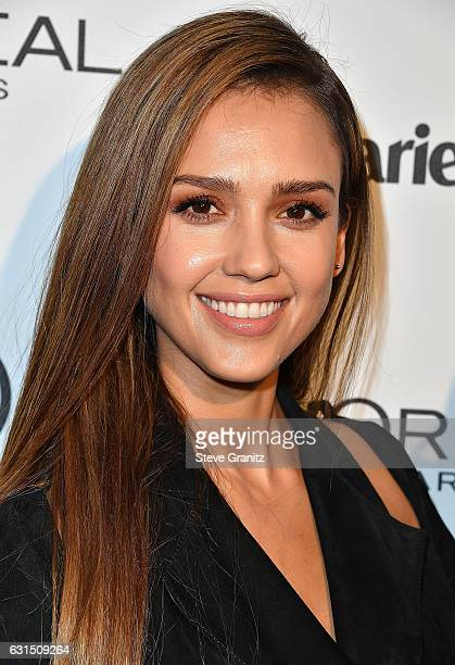 Jessica Alba arrives at the Marie Claire's Image Maker Awards 2017 on January 10 2017 in West Hollywood California