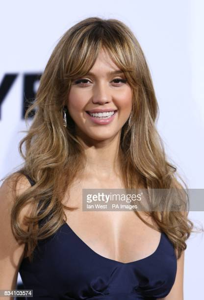 Jessica Alba arrives at the premiere of The Eye at the Pacific Cinerama Dome Los Angeles
