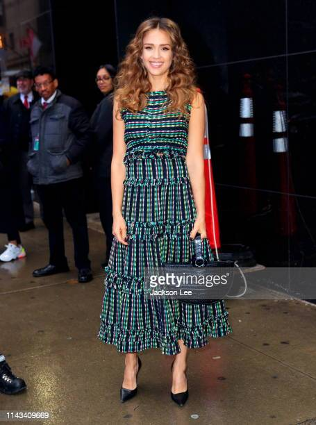 Jessica Alba at GMA on May 13, 2019 in New York City.