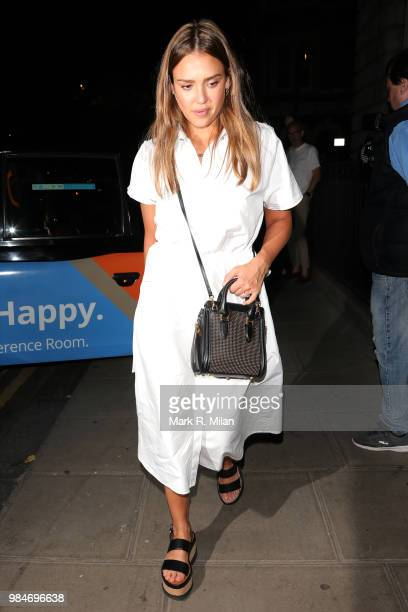 Jessica Alba at the Chiltern Firehouse on June 26 2018 in London England