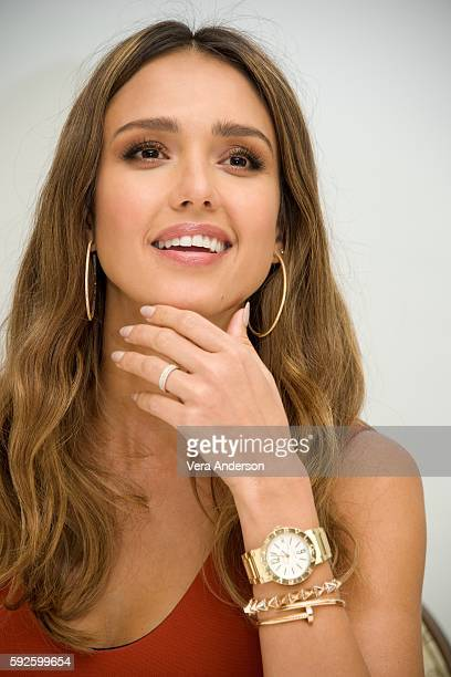 Jessica Alba at the 'Mechanic Resurrection' press conference at the Four Seasons Hotel on August 19 2016 in Beverly Hills California