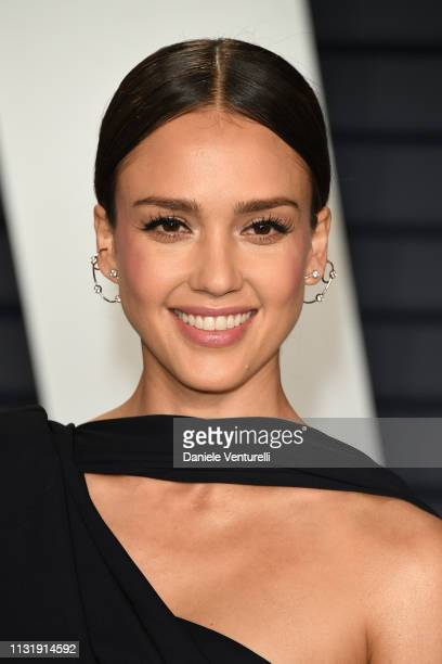 Jessica Alba attends 2019 Vanity Fair Oscar Party Hosted By Radhika Jones at Wallis Annenberg Center for the Performing Arts on February 24 2019 in...