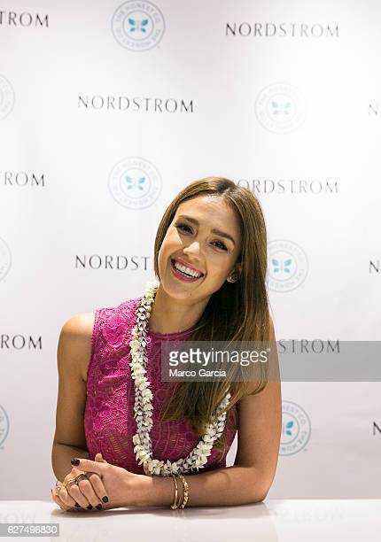 Jessica Alba attends a Meet and Greet hosted by the Honest Company at Nordstrom at Ala Moana Center on DECEMBER 3 2016 in Honolulu Hawaii