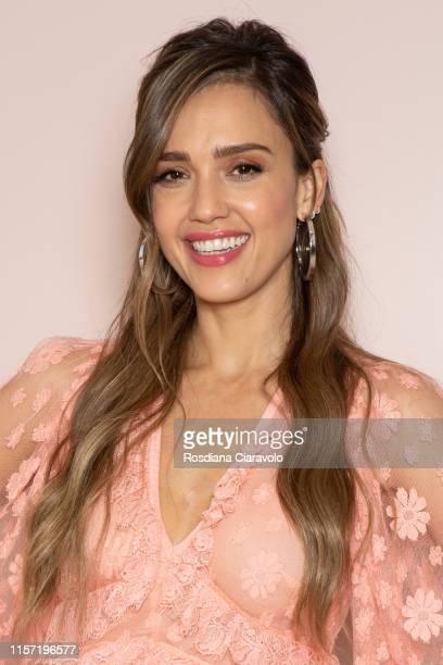 Jessica Alba attends a Meet & Greet event for the presentation of the Honest Beauty line at Douglas store in Milan on June 20, 2019 in Milan, Italy.