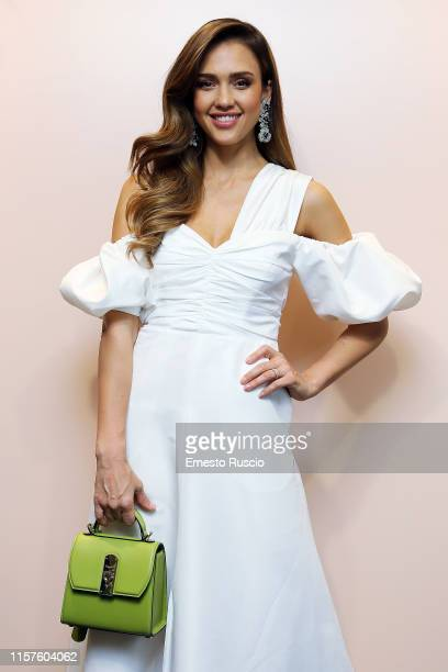 Jessica Alba attends a Meet & Greet event for the presentation of the Honest Beauty line at Douglas store in Rome on June 22, 2019 in Rome, Italy.