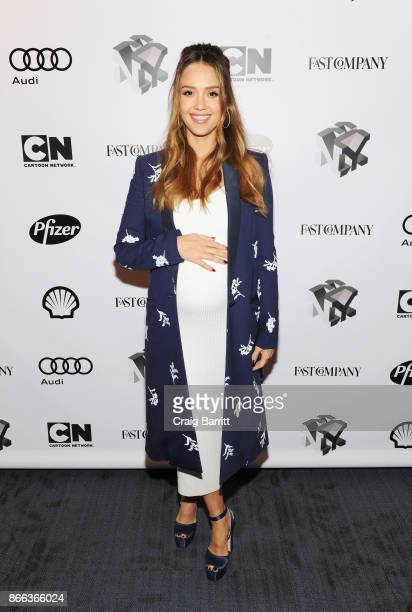 Jessica Alba attends Passion Play How Jessica Alba and Mario Batali Created Multichannel Marvels during the Fast Company Innovation Festival at 92nd...