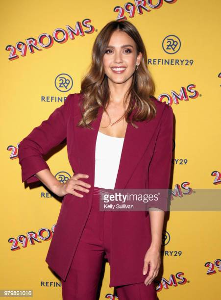 Jessica Alba attends Refinery29's 29Rooms San Francisco Turn It Into Art Opening Party 2018 at Palace of Fine Arts on June 20 2018 in San Francisco...