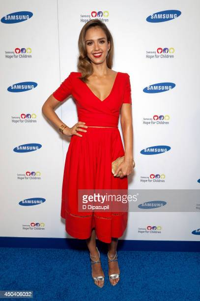 Jessica Alba attends the 13th Annual Samsung Hope For Children Gala at Cipriani Wall Street on June 10, 2014 in New York City.