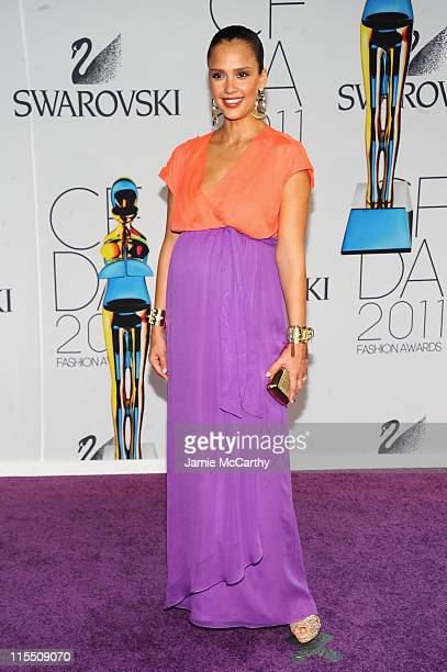 Jessica Alba attends the 2011 CFDA Fashion Awards at Alice Tully Hall Lincoln Center on June 6 2011 in New York City