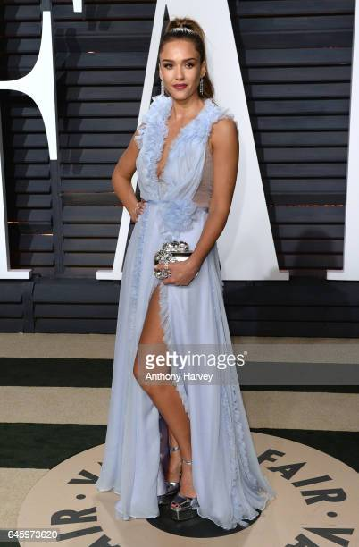 Jessica Alba attends the 2017 Vanity Fair Oscar Party hosted by Graydon Carter at Wallis Annenberg Center for the Performing Arts on February 26 2017...