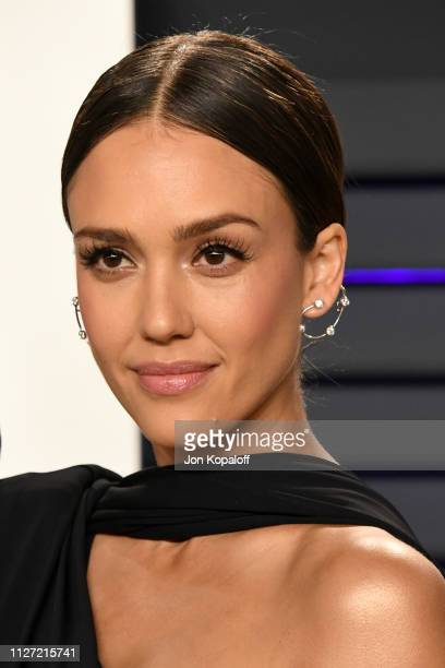 Jessica Alba attends the 2019 Vanity Fair Oscar Party hosted by Radhika Jones at Wallis Annenberg Center for the Performing Arts on February 24 2019...