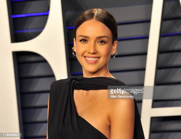 Jessica Alba attends the 2019 Vanity Fair Oscar Party hosted by Radhika Jones at Wallis Annenberg Center for the Performing Arts on February 24, 2019...