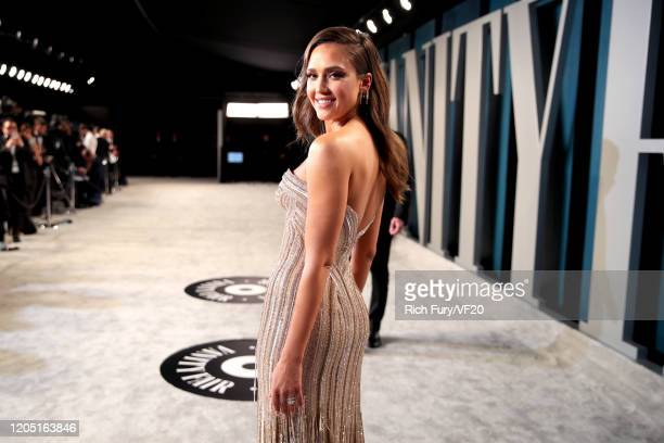 Jessica Alba attends the 2020 Vanity Fair Oscar Party hosted by Radhika Jones at Wallis Annenberg Center for the Performing Arts on February 09, 2020...